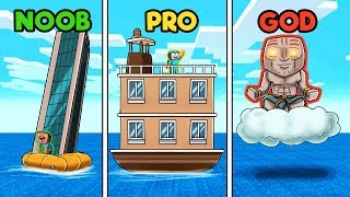 Minecraft - HOUSE BOAT CHALLENGE! (NOOB vs PRO vs GOD)