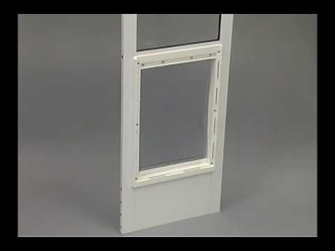 Ideal Pet Products Fast Fit Aluminum Patio Pet Door Demo V2 Youtube