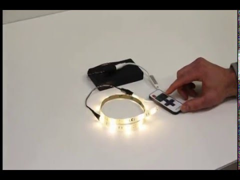 battery operated flexible led light strip youtube. Black Bedroom Furniture Sets. Home Design Ideas