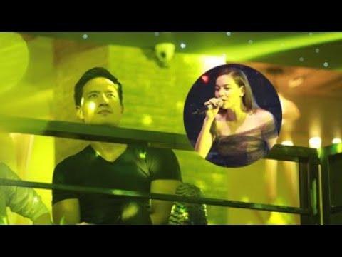 Kim Lý ngồi nghe Hồ Ngọc Hà kể về nụ hôn trong MV