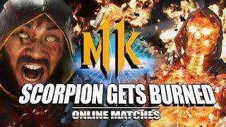 Scorpion Gets Burned: Mortal Kombat 11 - Online Matches (Stress Test)