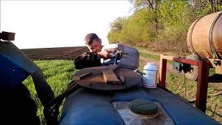 Вносим гербицид Гренадер по пшенице. МТЗ-82.1 Опрыскиватель 800л  16м