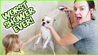 😂  WILL FRANCO THE FRENCHY SURVIVE THE WORST SHOWER EVER!?! 😀  OPERATION GET THINGS DONE DAY! 😂