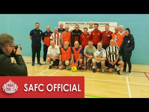 Lads join in walking football