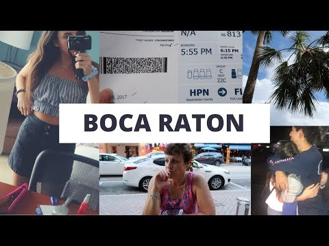 BOCA RATON TRAVEL VLOG (and meeting my boyfriend for the first time LDR)