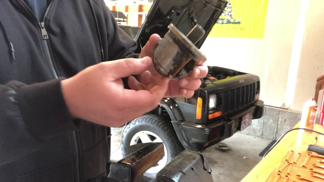 Jeep Xj 4 0 Liter Engine Oil Adapter Seal Replacement Youtube