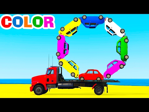 Thumbnail: LEARN COLORS w Truck in Cars Cartoon for Children Learn Numbers & Spiderman Learning Video