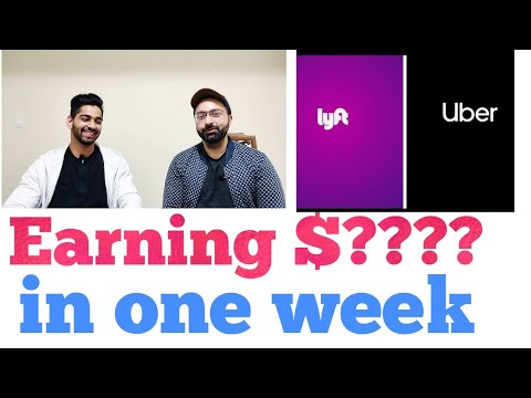 How Much Do I Earn In A Week With UBER & LYFT In Canada $$$!! 🤑🤑🤑