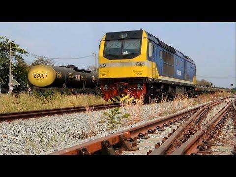 ขบวนรถไฟสินค้าที่จังหวัดฉะเชิงเทรา Freight Trains in Chachoengsao