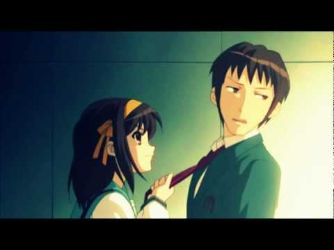 Haruhi and Kyon AMV - Sugar We're Going Down (Nightcore Version)