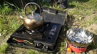 Какая лучше ГАЗОВАЯ  портативная плита  для рыбалки, похода, туристов. Обзор
