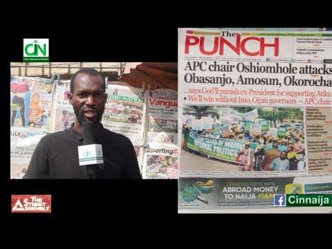 GOD WILL PUNISH YOU FOR SUPPORTING ATIKU - OSHIOMHOLE TO OBASANJO. NIGERIANS REACT