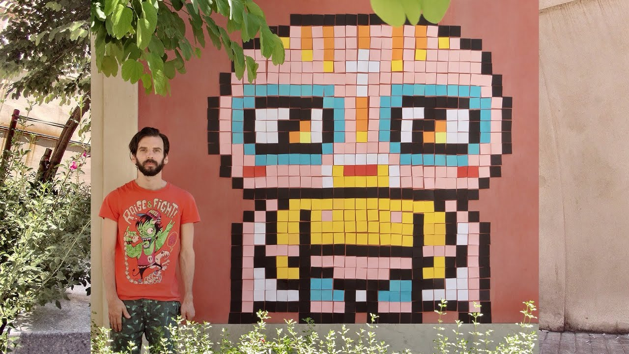 Assez Kawaii Fighter - Post-it Note Pixel Art by Garbi KW - YouTube AC32