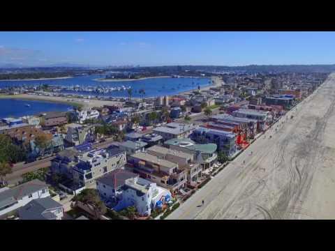 Mission beach, San Diego | Drone video