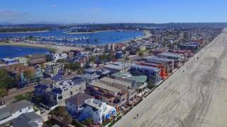 Mission beach, San Diego | Drone video