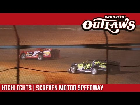 World of Outlaws Craftsman Late Models Screven Motor Speedway February 17, 2017 | HIGHLIGHTS