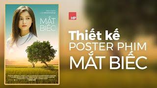 Thiết kế theo poster phim Mắt Biếc trên photoshop