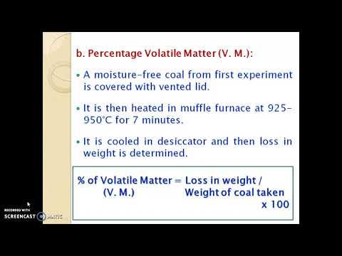 Coal & Its Analysis