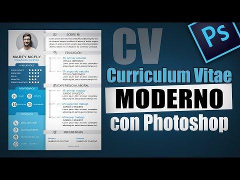 Como hacer un buen Curriculum Vitae Creativo PDF cv | Curso de Adobe Photoshop