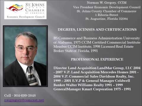 Norman Gregory & Jim Morgan talk St  Johns County, Florida Economic Development & Real Estate!