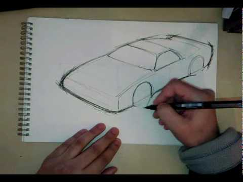 Fine Liner Car Sketch Made Simple Youtube