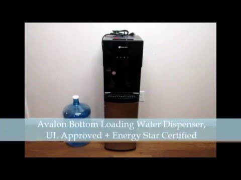Avalon Bottom Loading Water Dispenser, With 3 Temperature spouts & Child Safety Lock  UL Approved +