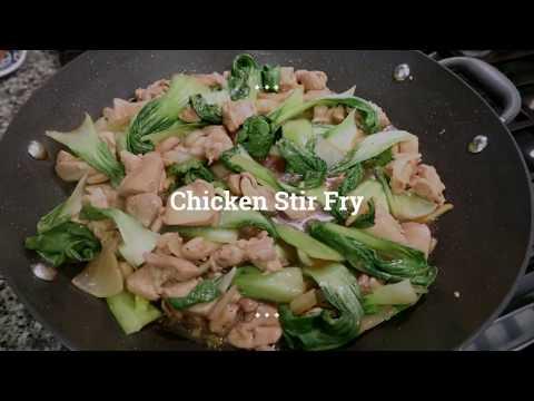 Chicken Stir Fry With Bokchoy