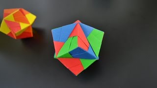 Origami: Stellated Octahedron (Sonobe 12 units) - Instructions in English (BR)