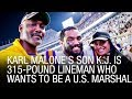 Lagu Karl Malone&39;s Son K.J. Is 315-Pound Lineman Who Wants To Be A U.S. Marshal