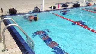 Тренировка плавание с трубкой