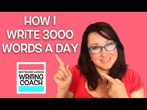 How To Increase Your Word Count To 3000 Words A Day! Bestselling Author's Writing Routine.