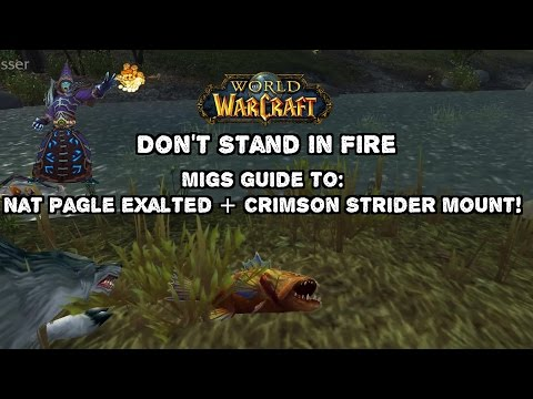 World Of Warcraft Nat Pagle/Crimson Strider Grind (Felmouth Frenzy Lunker) Fishing Guide!
