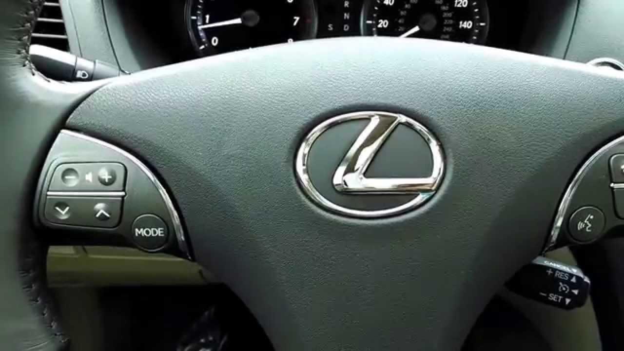 Lexus ES350  How to Set Memory SeatSteering WheelMirrors  YouTube