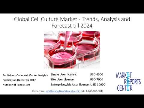 Global Cell Culture Market   Trends, Analysis and Forecast till 2024