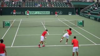 Tennis - Japan -  Kei Nishikori Team Japan practice 2016 Davis Cup @Osaka Japan