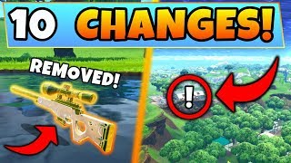 Fortnite Gameplay: 10 SECRET CHANGES in the HIGH STAKES UPDATE! – Legendary Removed! (Battle Royale)