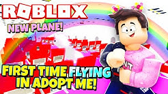 NEW PLANE! First Time FLYING in Adopt Me! (Roblox)