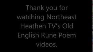 Credits for the Anglo-Saxon Rune Poem Videos