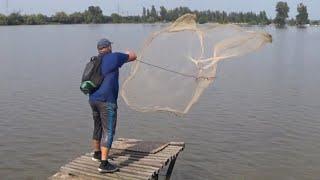 Нашли рыбные ПЕРЕКАТЫ Рыбалка Кастинговой сетью