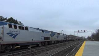 Amtrak Southwest Chief #4 arrives at Naperville, IL