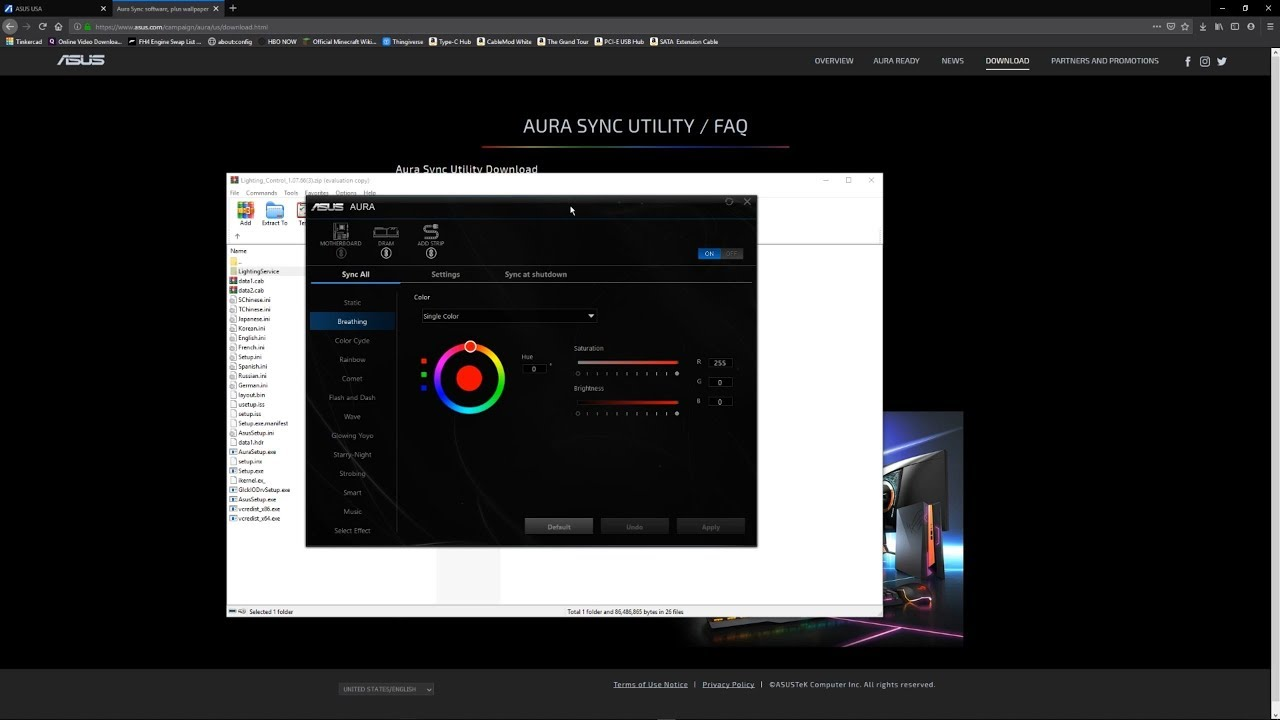 How to Install Asus Aura - YouTube