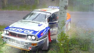 Dirt Rally Car Crashes/Fails Compilation with Realistic Crash Deformation Mod