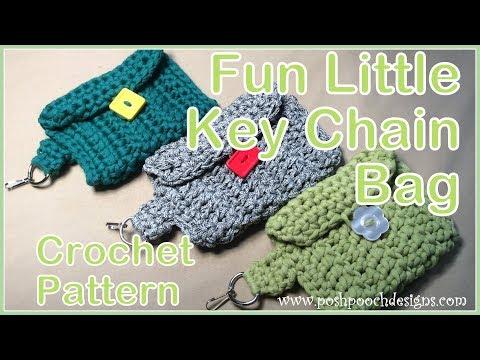 Fun Little Key Chain Bag Crochet Pattern