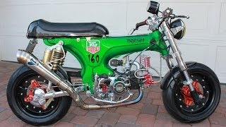 Custom 1970 Honda CT70 Monkey Bike Cafe Racer Like Honda Grom GoPro Hero 3+