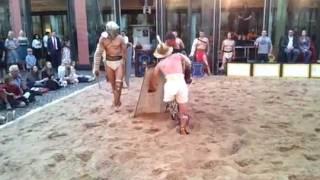 Gladiatoren in Bonn Murmillo vs. Provocator Amor Mortis