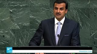 أمير قطر يندد بالحصار المفروض على بلاده من منبر الأمم المتحدة
