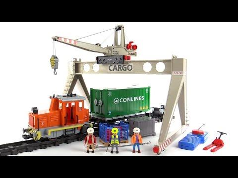 Playmobil rc cargo train mega set review 4085 youtube - Train playmobil ...
