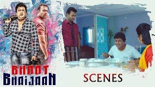Bhoot Bhaijan Movie Scenes - Gullu Dada Afraid With Aziz Naser Voice - Sana Tells About Aziz Voice