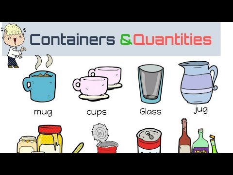 Learn Containers and Quantities Vocabulary in English