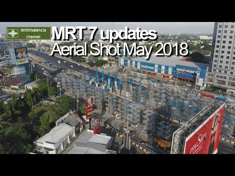 MRT Line 7 - Aerial shots for May 2018
